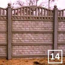Ogrodzenia betonowe marek reding 14